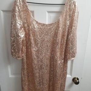 My Michelle Rose Gold Sequin Dress